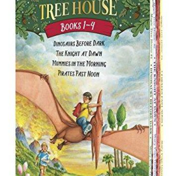 Magic Tree House Boxed Set Books 1-4: Dinosaurs Before Dark The Knight at Dawn Mummies in the Morning and Pirates Past Noon