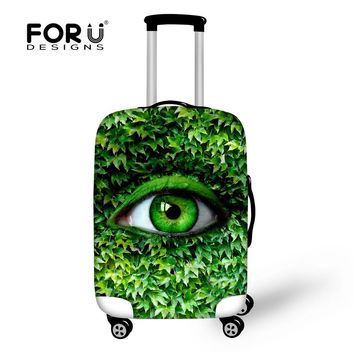 Design Elastic Luggage Cover for 18-30 Inch Luggage Protective Cover Thick Travel Luggage Dust Cover Green Plant Suitcase Cover