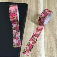 15*5m Flower Patterns Japanese Washi Tape Decorative DIY Masking Tape for Scrapbooking Cute Stationery