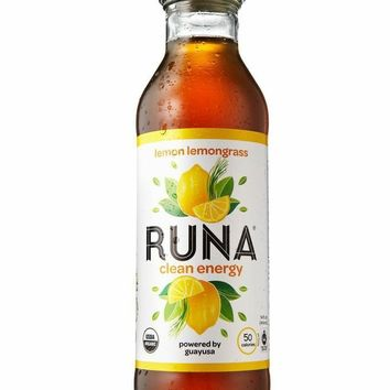 Runa Amazon Guayusa Bottled Tea Lemon Lemongrass 14 Ounce Pack of 12