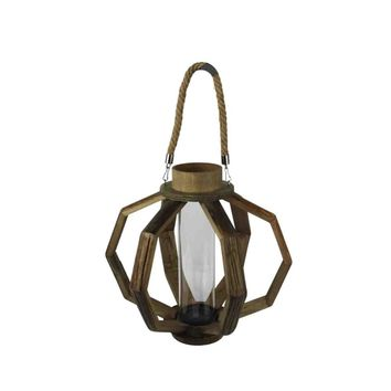 Well Designed decorative Wood Lantern, Brown