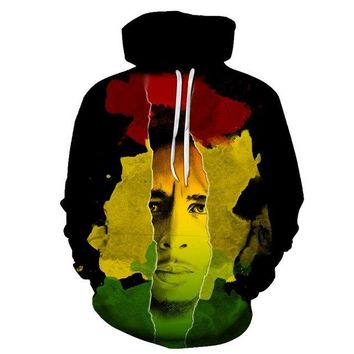 ZUTTER fashion hoodie male / female clothing Bob Marley 3D printing hoodie casual street style hoodie S-6XL