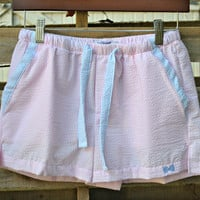 FRATERNITY COLLECTION: Lounge Shorts - Light Pink/Baby Blue