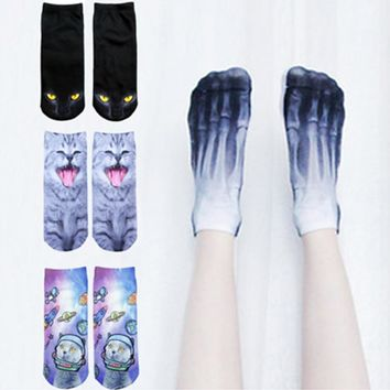 Funny Sock Collection - Bone X-rays Money Cat Candy Donut Fox