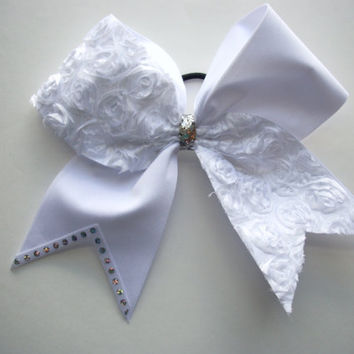 CHEER BOW WHITE by LeBow1cheerbows on Etsy