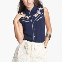 Mimi Chica Lace Paperbag Shorts (Juniors)   Nordstrom