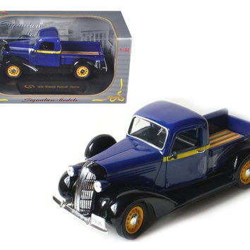1936 Dodge Pickup Truck Blue 1-32 Diecast Car Model by Signature Models