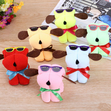 5pcs Cute Dog Shape Cotton Cake Towel Creative Mother's Day Wedding Persent Birthday Gifts 88 LS