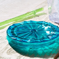 Starbucks® Faceted Flat Lid - Teal