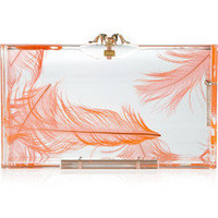 Charlotte Olympia | Pandora feather Perspex box clutch | NET-A-PORTER.COM
