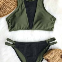Cupshe Love Freedom Mesh Bikini Set