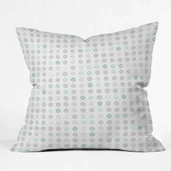 Gabi Besos Blue Throw Pillow
