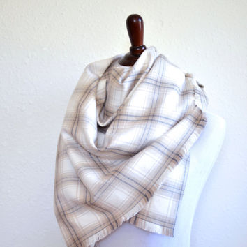 Blanket Scarf // Plaid Flannel Blanket Scarf // Oversize Scarf // Handmade Blanket Scarf // Plaid Blanket Scarf // Rectangle Blanket Scarf