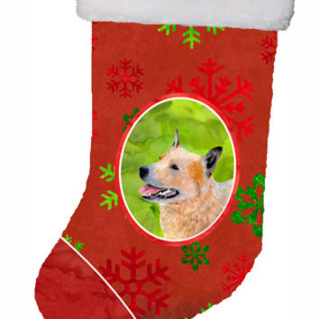 Australian Cattle Dog Red Snowflakes Holiday Christmas Christmas Stocking