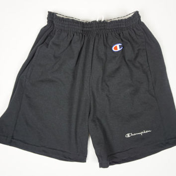 Vintage Champion 90s Black Athletic Shorts