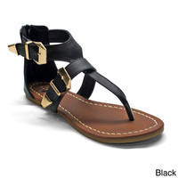 Betani Women's 'Erica-2' Buckled T-strap Ankle Strap Sandals