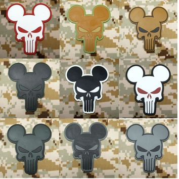 """BuckUp Tactical Morale Patch Hook PVC Punisher Mickey Mouse Patches 2.75"""""""