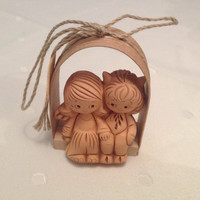 Valentine's Day gift, cute angels, pottery angels, angels duet, handmade angels, lovely angel, ceramics Angel, home decor, pottery figurines
