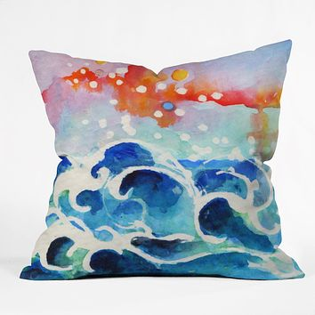 Ginette Fine Art Tides Of Time Throw Pillow