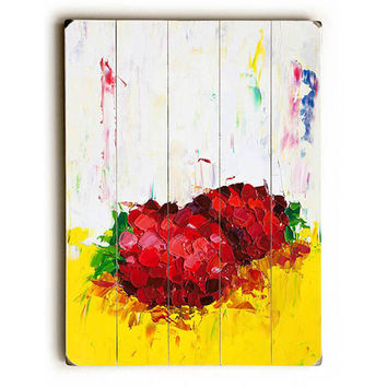 Slice of Raspberry by Artist Eric Buchmann Wood Sign
