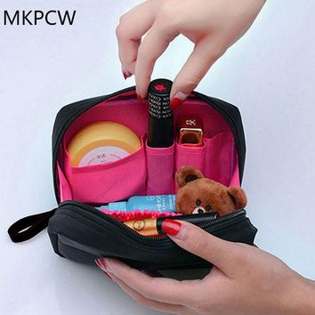 DKF4S 2017 The new Cosmetic Bag Professional Toiletry Bags Travel Makeup Case Beauty Necessaries Make up Storage Beautician Box