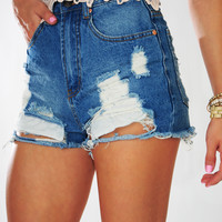 Summer Beach Day Shorts: Denim | Hope's