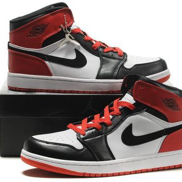 Big Size To Special You! Air Jordan 1 Retro Aj1 Black/white/red Size Us 14 15 16 | Best Online Sale
