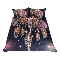 Colorful Dreamcatcher Galaxy Bedding Set (Super Soft Duvet Cover with Pillowcases)