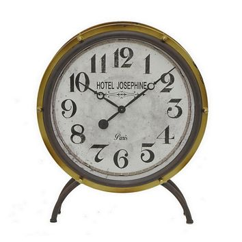 Vintage Hotel Josephine Parisian Freestanding Drum Clock -- 25-in