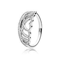PANDORA Hearts Tiara Ring, Clear CZ - Size 4.5
