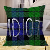 5SOS Green Idiot on Square Pillow Cover