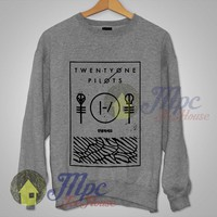 Twenty One Pilots Thin Line Box Unisex Grey Sweatshirt - Mpcteehouse