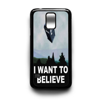 I Want to Believe Tardis Box Samsung S5 S4 S3 Case By xavanza
