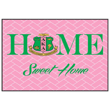 Home Sweet Home Door Mat - Alpha Kappa Alpha Sorority