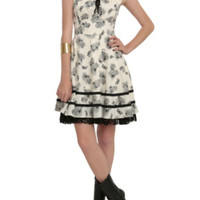 Floral Insect Printed Dress