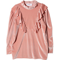 Frilled Accent Pullover