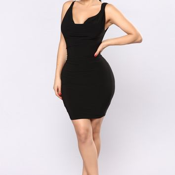 Nite Out Mini Dress - Black