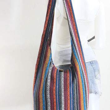 USA SHIPPING** Handbag Hippie Hobo Cross body Messenger Boho Bag Hmong Purse Nepali Cotton E-HM21