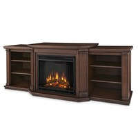 Valmont Entertainment Electric Fireplace in Chestnut Oak Finish