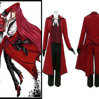 Death Grell Sutcliff Costume, Black Butle Costume
