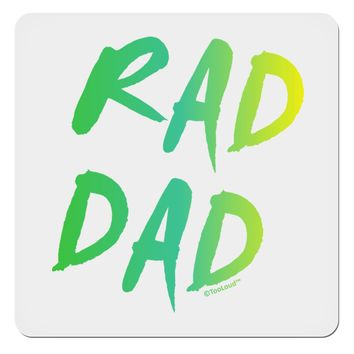"Rad Dad Design - 80s Neon 4x4"" Square Sticker"
