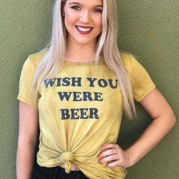 Wish You Were Beer Top- Gold