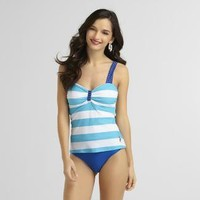 US Polo Assn.- -Women's Tankini One-Piece Swimsuit-Clothing-Women's-Swimwear