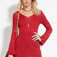 Open-Knit Mini Dress