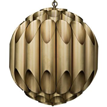 Sharne Chandelier, Metal w/ Brass