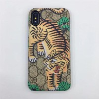 GUCCI Fashion Print Embroidery iPhone Phone Cover Case For ( iPhone X )-1