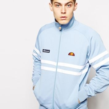Ellesse Track Jacket With Chest Stripes - Light blue