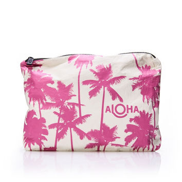 ALOHA Collection - Medium Pouch | Pink Coco Palms
