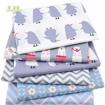 6pcs/lot,Twill Cotton Fabric Patchwork Cartoon Tissue Cloth Of Handmade DIY Quilting Sewing Baby&Children Sheets Dress Material