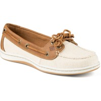 Women's Firefish Canvas Boat Shoe in Natural Tan by Sperry